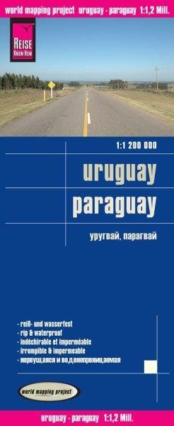 Uruguay, Paraguay, Landkarte 1:1.200.000, Reise Know-How