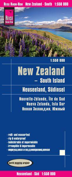 Neuseeland Südinsel Landkarte 1:550.000, Reise Know How