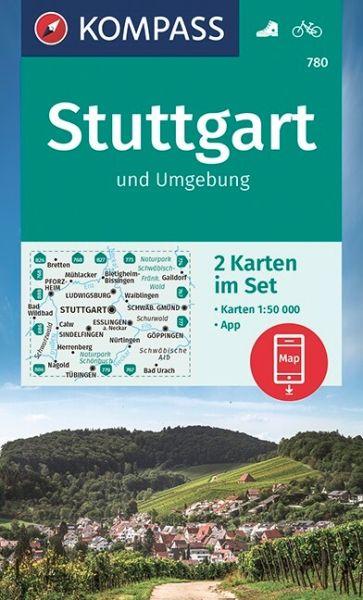 Kompass Karte 780, Stuttgart und Umgebung 1:50.000, Wandern