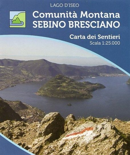 Wanderkarte für den Lago d'Iseo in der Lombardei im Maßstab 1:25.000, Ingenia