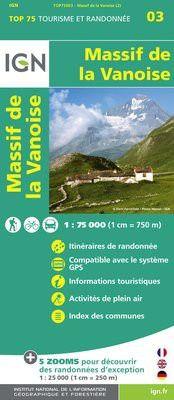 Vanoise 1:75.000 Rad- und Wanderkarte, IGN Top75003