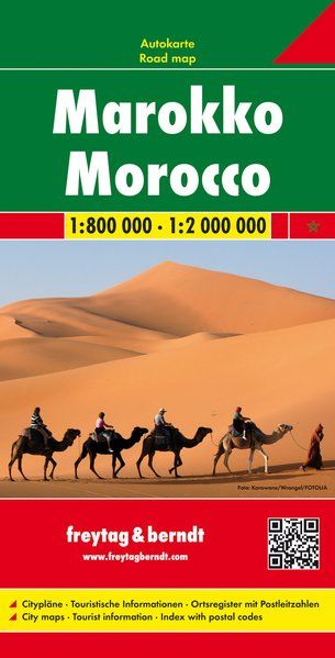 Marokko, Straßenkarte 1:800.000, Freytag und Berndt