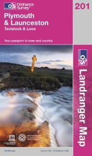 Landranger 201 Plymouth & Launceston, Großbritannien Wanderkarte 1:50.000