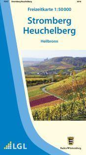Heilbronn Freizeitkarte in 1:50.000 - F517 mit Rad- und Wanderwegen