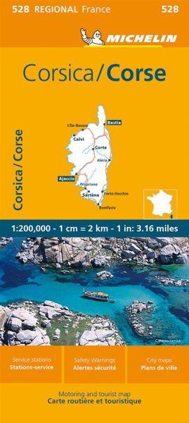 Michelin regional 528 Korsika Straßenkarte 1:200.000