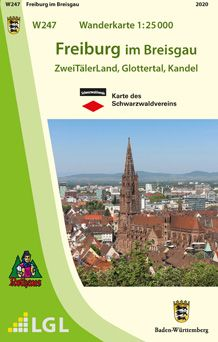 Freiburg im Breisgau W247, Wanderkarte 1:25.000, Schwarzwaldverein