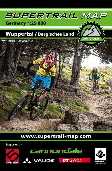 Supertrail Map Wuppertal / Bergisches Land Mountainbike-Karte 1:25T, Wetterfest