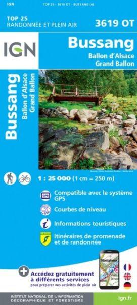 IGN 3619 OT Bussang, La Bresse, Frankreich topographische Wanderkarte 1:25.000