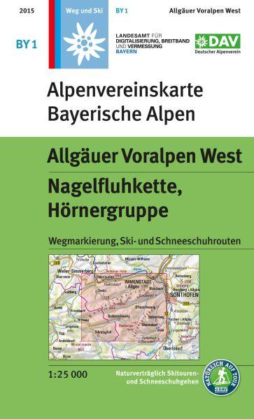 Alpenvereinskarte BY1 Allgäuer Voralpen West Wanderkarte 1:25.000