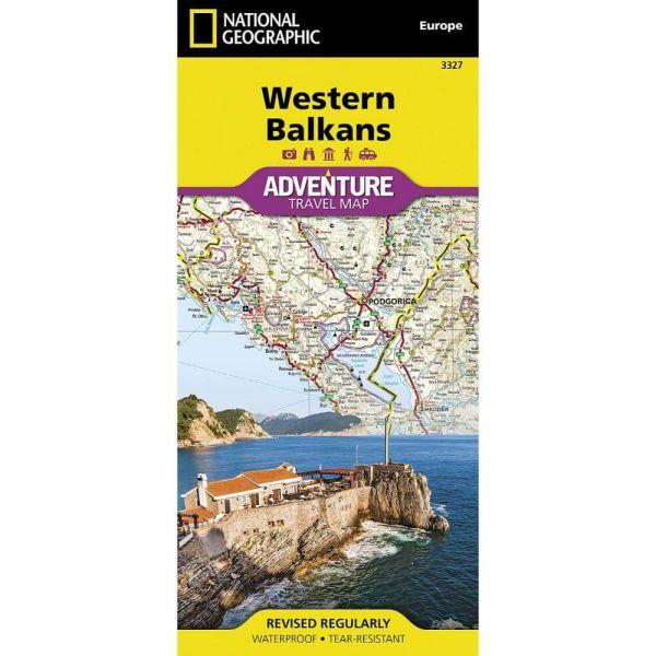Westlicher Balkan Landkarte / Straßenkarte 1:800.000 von National Geographic