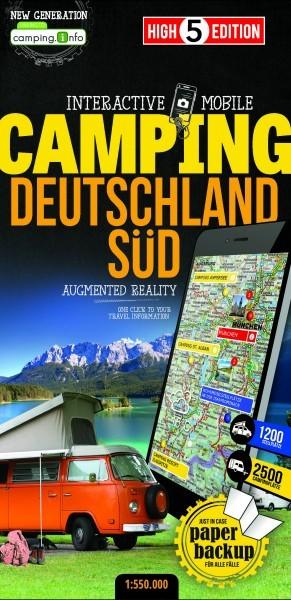 Campingkarte Deutschland Süd 1:550.000, High5Edition