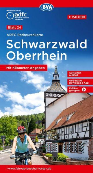 ADFC Radtourenkarte 24, Schwarzwald - Oberrhein Radwanderkarte 1:150.000