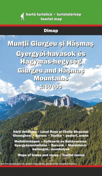 Karpaten Wanderkarte: Muntii Giurgeu und Hasmas Gebirge, 1:60.000, Dimap