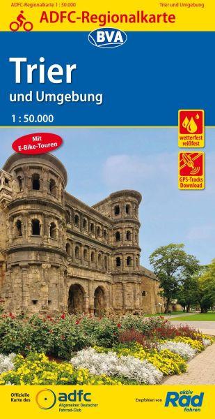 ADFC-Regionalkarte, Trier und Umgebung, Radwanderkarte