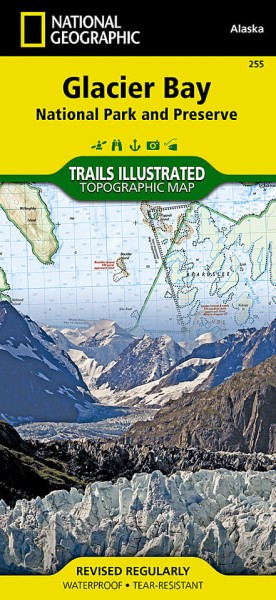 Glacier Bay National Park Trail Map (255), National Geographic
