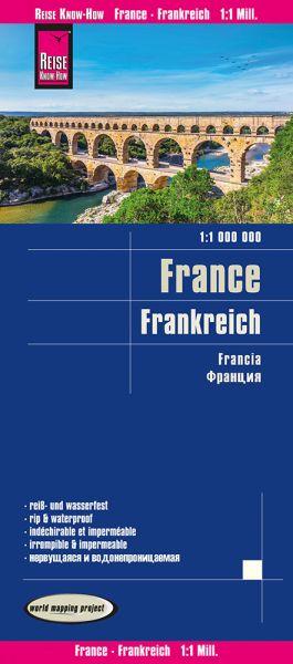 Frankreich, Landkarte 1:1.000.000, Reise Know-How