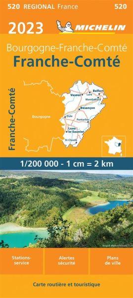 Michelin regional 520 Franche-Comté Straßenkarte 2020 1:200.000