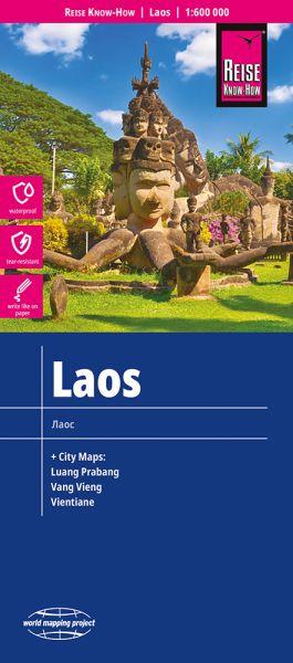 Laos Landkarte 1:600.000, Reise Know-How