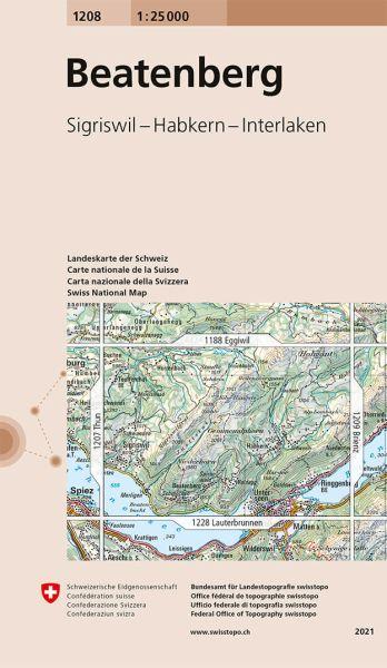 1208 Beatenberg topographische Karte Schweiz 1:25.000