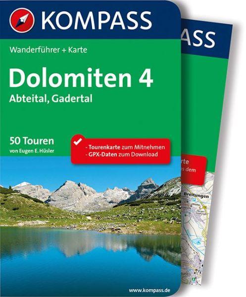 Dolomiten 4 mit Karte, Kompass Wanderführer