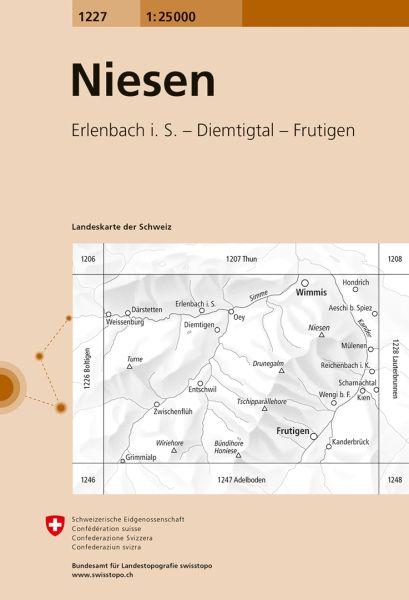 1227 Niesen topographische Karte Schweiz 1:25.000