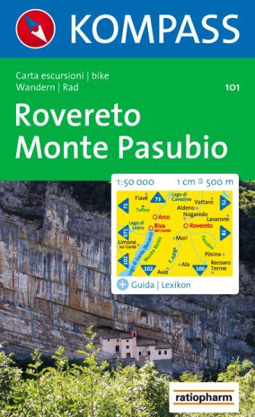 Kompass Karte 101, Rovereto, Monte Pasubio 1:50.000, Wandern, Rad fahren