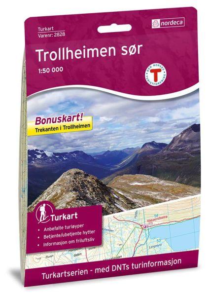 Trollheimen Süd Wanderkarte 1:50.000 – Norwegen, Turkart 2828 von Nordeca
