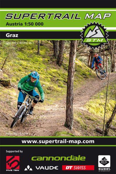Supertrail Map Graz Mountainbike-Karte 1:50.000, Wasser- und reissfest (STM)
