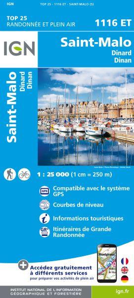 IGN 1116 ET St-Malo, Dinard, Dinan, Frankreich Wanderkarte 1:25.000