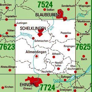 7624 SCHELKLINGEN topographische Karte 1:25.000 Baden-Württemberg, TK25