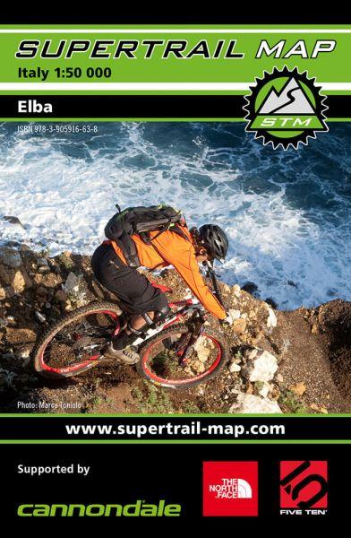 Supertrail Map Elba Mountainbike-Karte, Bike-Karte 1:50T, Wasser- und reissfest (STM)