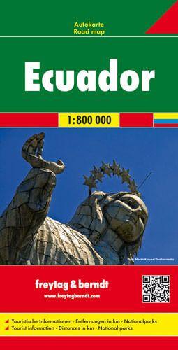 Ecuador, Galapagos, Straßenkarte 1:800.000, Freytag und Berndt