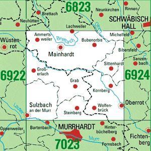 6923 SULZBACH A.D.MURR topographische Karte 1:25.000 Baden-Württemberg, TK25