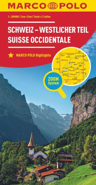 Schweiz West Straßenkarte 1:200.000, Marco Polo