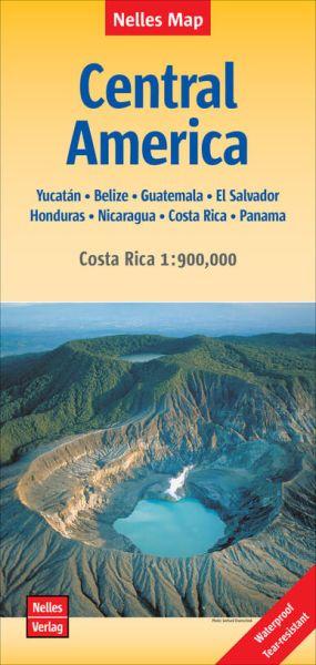 Nelles Maps, Mittelamerika - Costa Rica 1:1.750.000 / 1:900.000, wasser- und reißfest