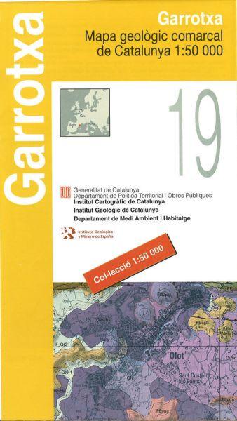 Garrotxa (Pyrenäen), Katalonien topographische Karte, 1:50.000, ICC 19