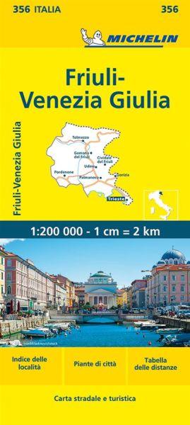 Michelin 356 Friaul-Julisch Venetien Straßenkarte 1:220.000