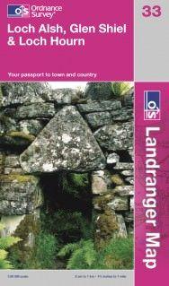 Landranger 33 Loch Alsh, Glen Shiel & Loch Hourn Wanderkarte 1:50.000 - OS / Ordnance Survey