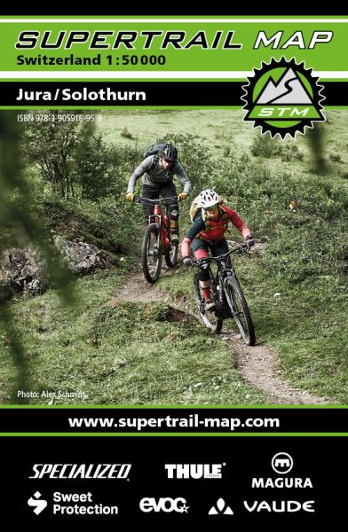 Supertrail Map Jura / Solothurn Mountainbike-Karte 1:50.000, wetterfest