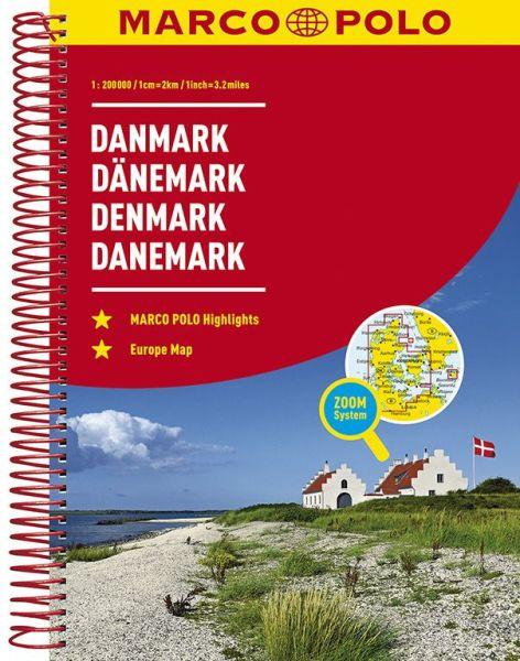 Dänemark Straßenatlas, 1:200.000, Marco Polo