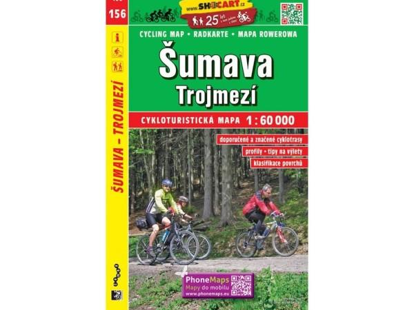 Böhmerwald Dreieckmark Radwanderkarte 1:60.000 - SHOCart 156