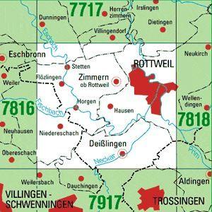 7817 ROTTWEIL topographische Karte 1:25.000 Baden-Württemberg, TK25