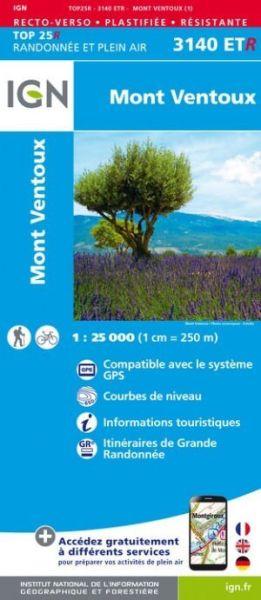 IGN 3140 ETR Mont Ventoux, Frankreich reiß- und wasserfeste Wanderkarte 1:25.000