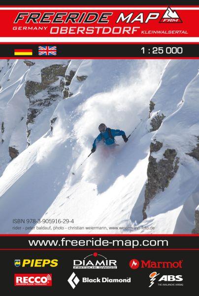 Freeride Map Oberstdorf, Skitourenkarte 1:25.000