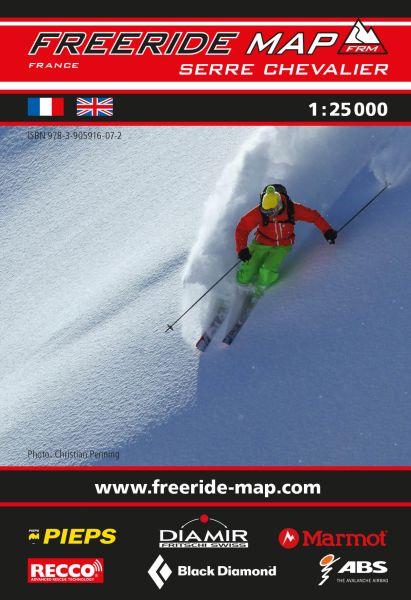 Freeride Map Serre Chevalier, Skitourenkarte 1:25.000
