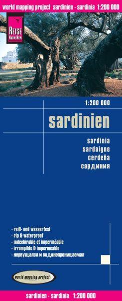 Sardinien Landkarte 1:200.000, Reise Know-How