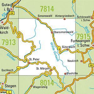 7914 ST.PETER topographische Karte 1:25.000 Baden-Württemberg, TK25