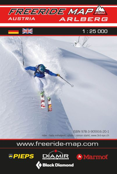 Freeride Map Arlberg, Skitourenkarte 1:25.000