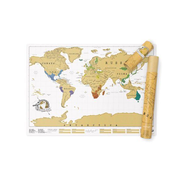 Scratch Map - Die Rubbel Weltkarte - Das Orginal von Luckies 58,2 cm x 81,9 cm