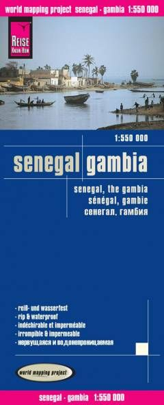 Senegal, Gambia Landkarte 1:550.000, Reise Know-How